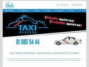 Taxi Reserva servicio de taxi en Madrid.