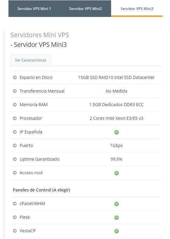 Servidor VPS Mini 3 Cubenode