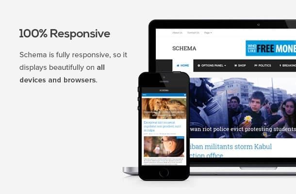 Schema mejor tema WordPress para ganar dinero con adsense