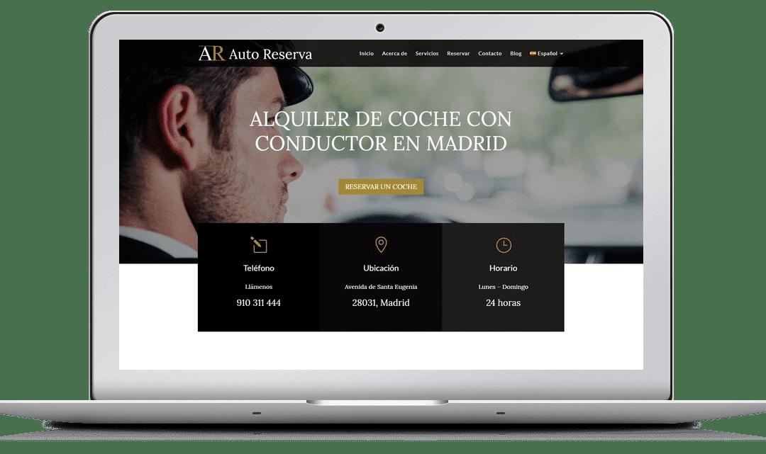 Diseño Web Auto Reserva