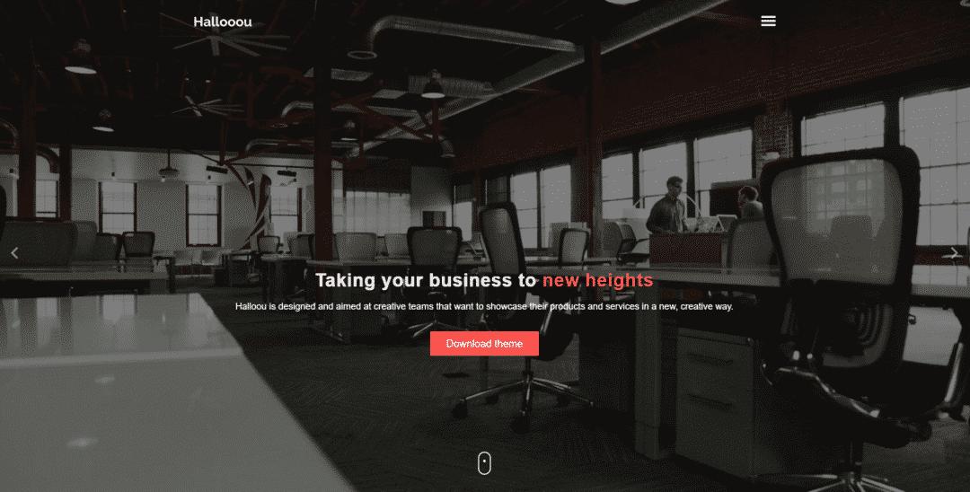 Halloou plantillas gratis HTML5