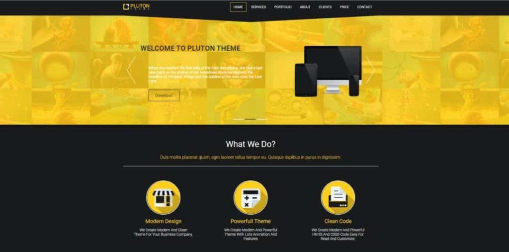 Pluton plantilla html gratis