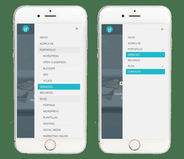 Como crear un menu colapsable en DIVI