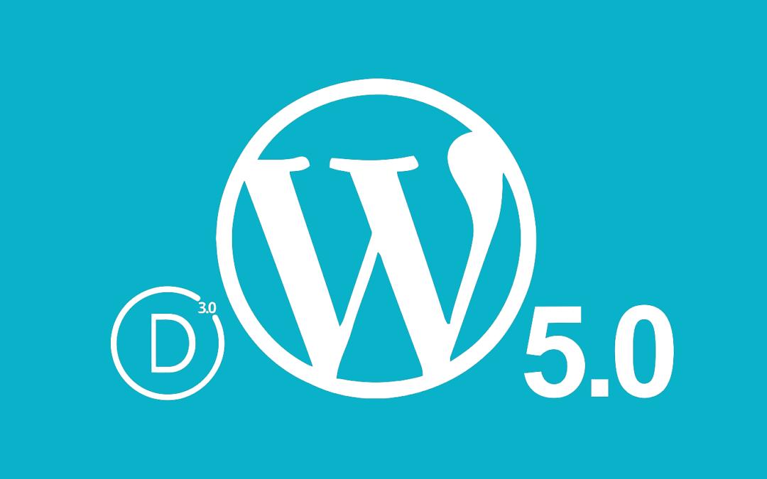 Actualizar al nuevo Divi Builder, versión WordPress 5.0