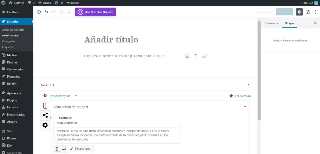 El nuevo editor de WordPress 5.0