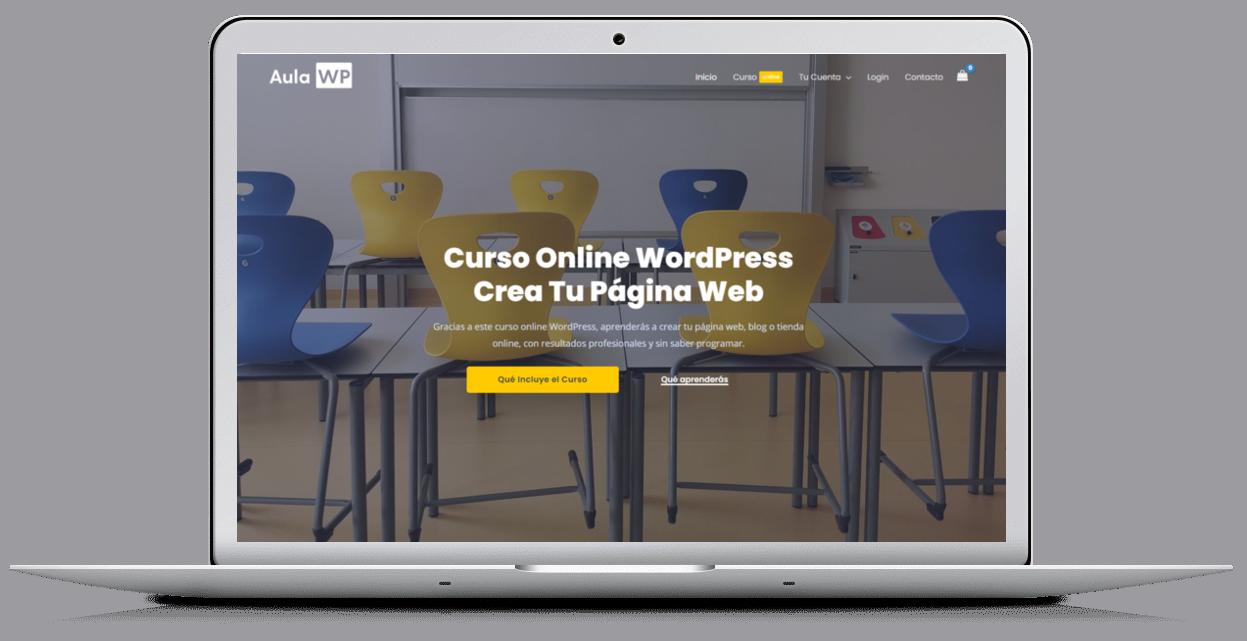 Cursos de wordpress, web de formación online