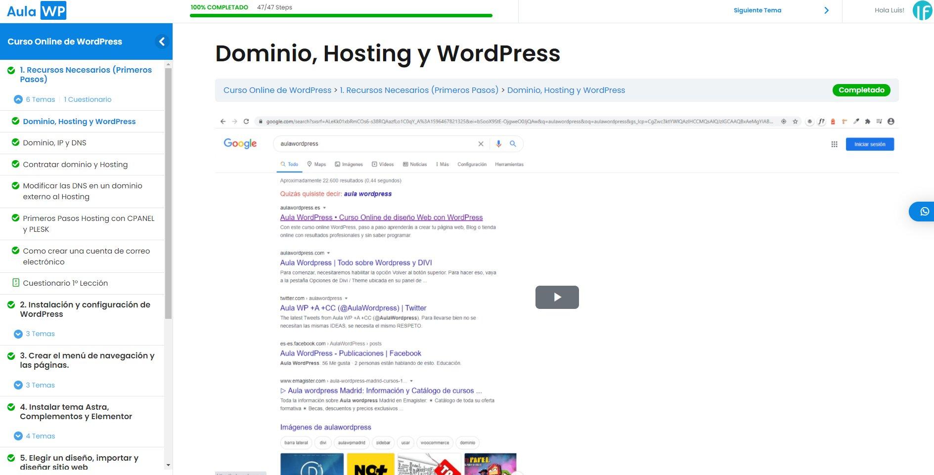 Como crear una pagina web curso wordpress